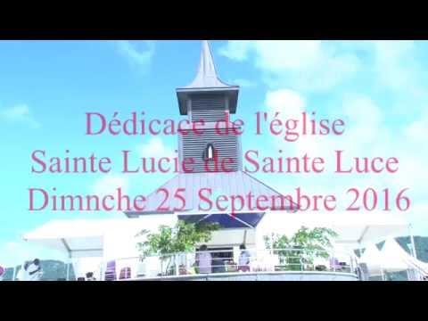 ddicace de lglise saint lucie de sainte luce mgr david maraire aglise saint lucien de