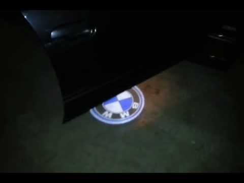 NIEUW BMW LOGO LED DEUR VERLICHTING LASER LICHT BMW E39 525 - YouTube