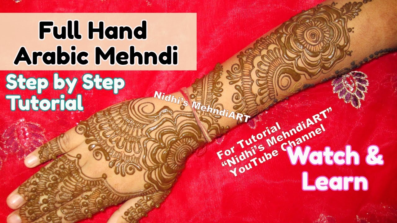 Arabic Mehndi Tutorial : Latest full hand arabic mehndi designs for wedding trendy