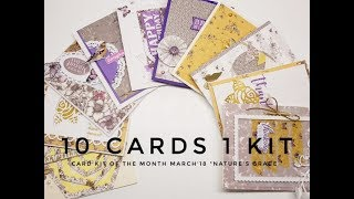 10 Cards 1 Kit Crafty Ola Store Card kit of the Month 39 18 39 39 Nature 39 s Grace 39 39