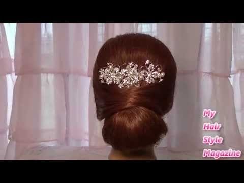 Easy Low Bun Wedding Hairstyle for Long Medium Hair
