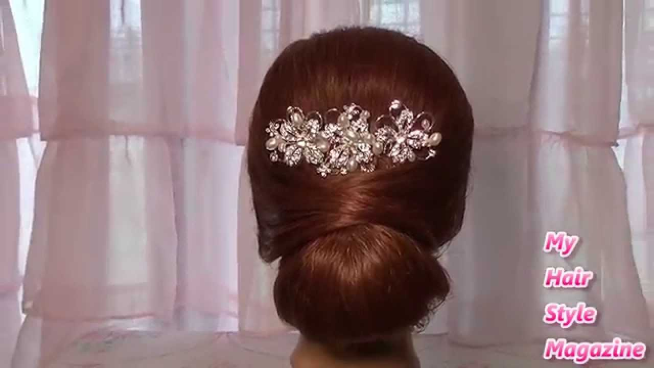 easy low bun wedding hairstyle for long medium hair tutorial updo