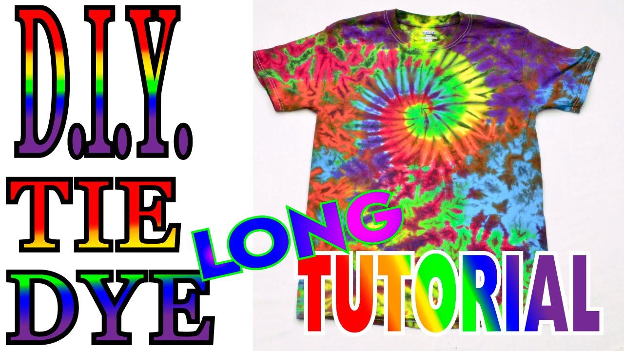 Tie dye a spiral crinkle rainbow shirt long tutorial 52 youtube baditri Gallery