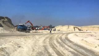 قناة السويس الجديدة : مشهد عام للحفر 26أكتوبر 2014