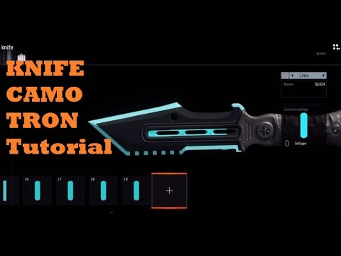 black ops 3 tron knife camo paint job tutorials