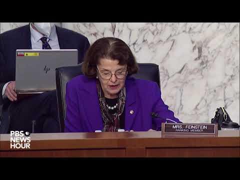 WATCH: Sen. Dianne Feinstein questions witnesses in Barrett Supreme Court confirmation hearing.
