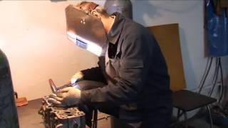 Ремонт головки блока цилиндров (сварка)
