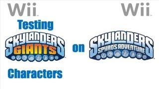 Skylanders Giants Wii - Testing Skylanders Giants Figures On Skylanders Spyros Adventure Game
