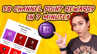 50 Twitch Channel Point Ideas In 7 Minutes (or less!)