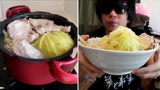包丁すら使わないラーメン二郎作りが最高に楽しい。