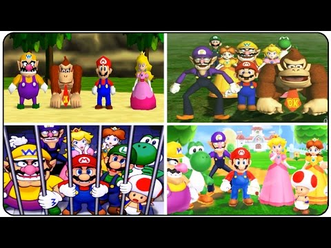 Mario Party Series - Evolution of All Introductions (N64, GC, GBA, DS, Wii, 3DS)