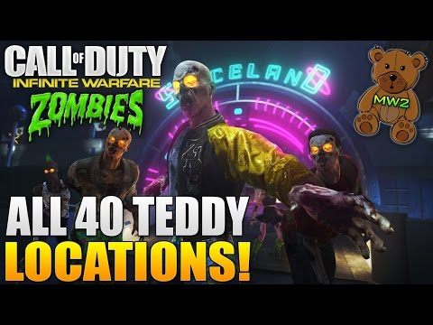 CALL OF DUTY: Infinite Warfare Zombies in Spaceland - All 40 Known Teddy Locations (Secret MW2 Song)