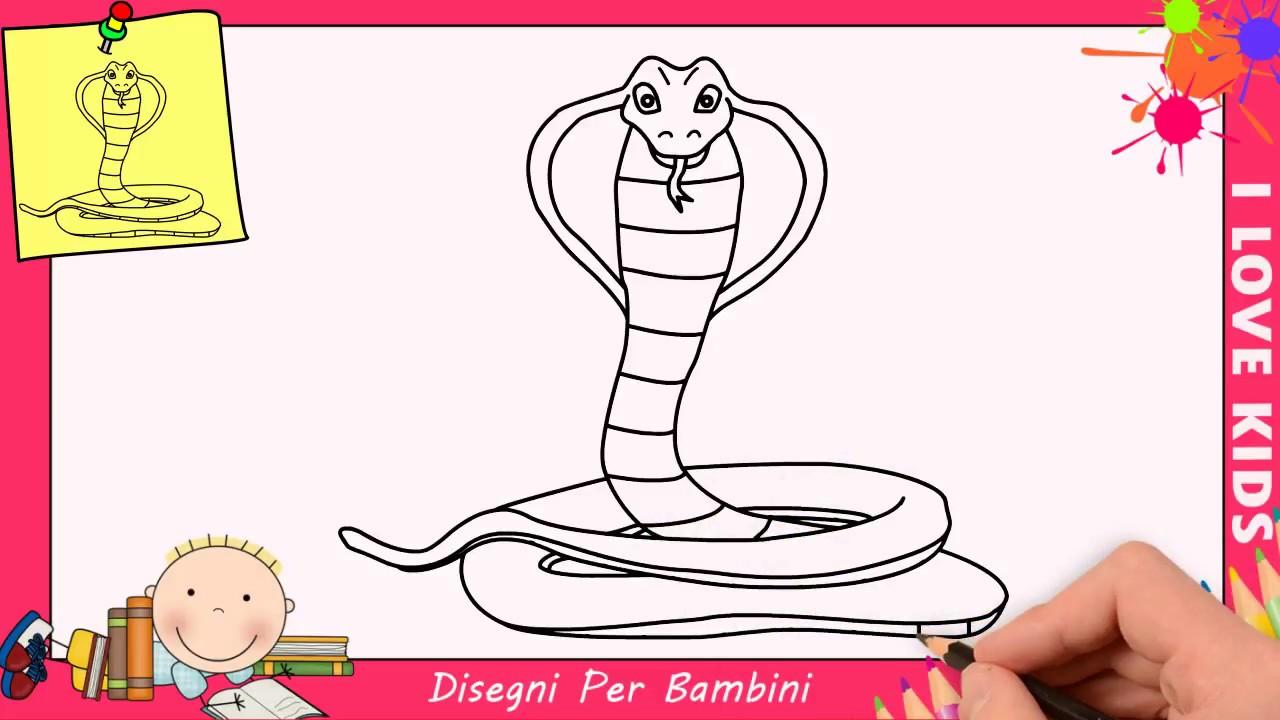 Come Disegnare Un Serpente Facile Passo Per Passo Per Bambini 2