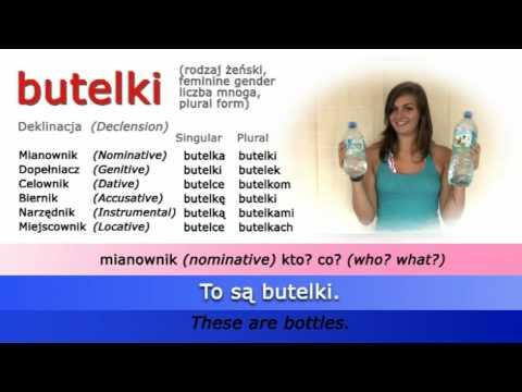 Easy Polish Grammar - Case Drill: butelka (bottle)