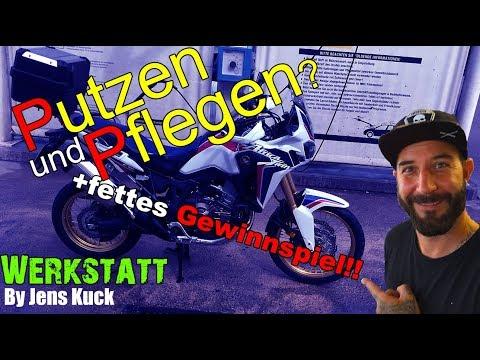 Motorrad putzen? Pflegen? // fettes Gewinnspiel // Jens Kuck