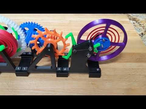 3D Printed - Watch Escapement Desk Toy (designed By Larkys Prints)