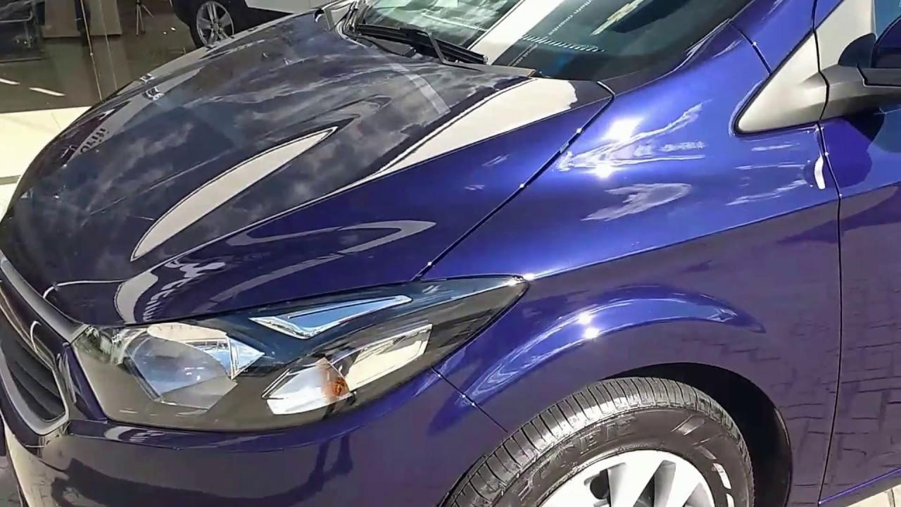 Detalhes do Novo Chevrolet onix LT 2017 azul imperial ...