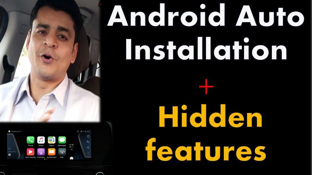 Android Auto Demo on Tata Harrier  कैसे प्रयोग में लाये ?Installation+voice  command demo