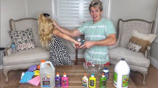 Don't Choose The Wrong 3 Colors Of Glitter Glue Challenge!!!