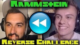 GUESS THAT RAMMSTEIN SONG - IN REVERSE! 🔥 Challenge (feat. @DerRockSchopp)