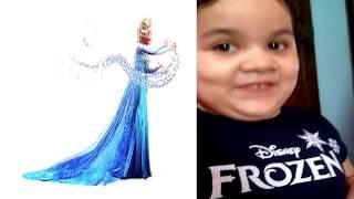 Video Brincando com minha Frozen