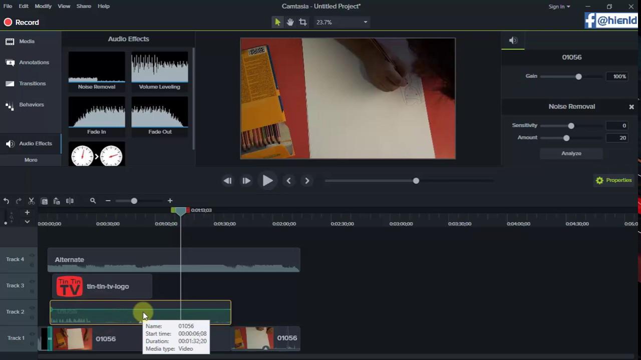 Hướng dẫn dùng Camtasia 9 biên tập chỉnh sửa video cho người mới bắt đầu