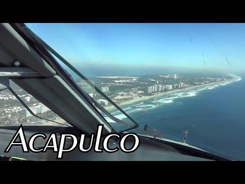 Embraer 145 Visual approach RWY 10 Acapulco / Aproximación visual Pista 10 Acapulco