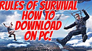How To Download Rules Of Survival On Your Computer! (PC And MAC) *NEW Fortnite?*
