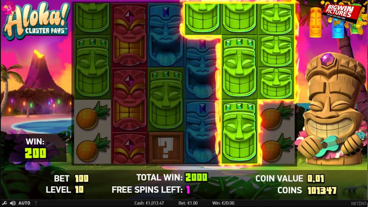 Aloha Cluster Pays Free Spins Youtube