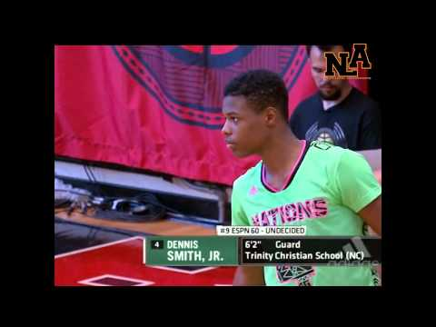 Dennis Smith Jr Takes over and Dominates Adidas Nation!!! Full Game Higlights and Interview