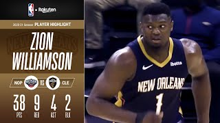 【分かっていても止められない…】ザイオン・ウィリアムソンが38得点! FG成功率は72.7%!|NBAハイライト(2021/4/12)【NBA Rakuten】