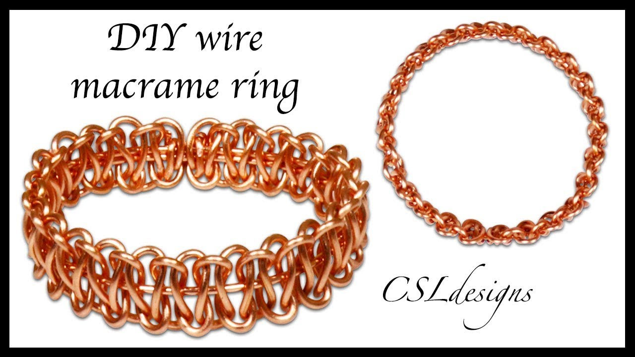 Simple DIY wire macrame ring - YouTube