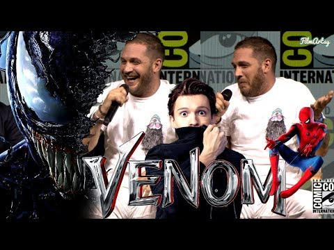VENOM: Tom Hardy Makes Fun of Tom Holland  SpiderMan vs. Venom  SDCC 2018 Highlights  Q&A