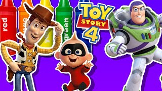 1 HOUR LONG DISNEY TOY STORY 4 WOODY SAVES INCREDIBLES 2 FAMILY TODDLER KIDS SAFE VIDEOS