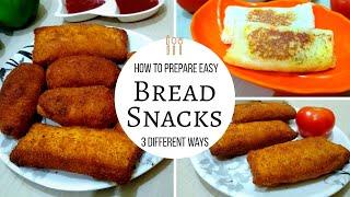 Bread Pockets and Rolls || എളുപ്പത്തിൽ ഈ 3 രീതിയിൽ തയ്യാറാക്കി നോക്കൂ