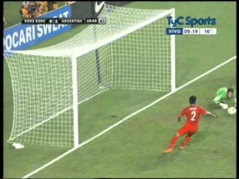 Gol de Banega ante Hong Kong