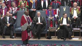 Desmond Tutu - Honorary Degree - University of Leicester