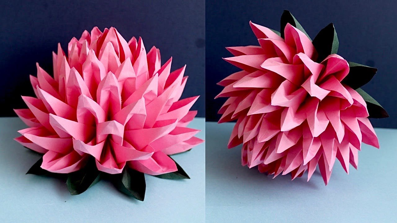 Easy Way To Make Paper Lotus Flower -  Highly Requested Video - Paper Flower - Paper Craft