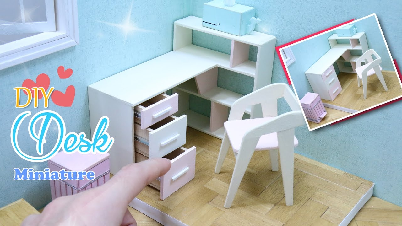 Do It Yourself Home Design: How To Make Dollhouse Desk(writing