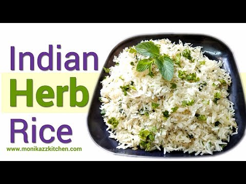 Indian Herb Rice Recipe  How to make Indian Best Herb Rice  Herb Rice Recipe  monikazz kitchen