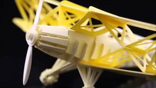Laser Cut Biplane Paper Model Kit