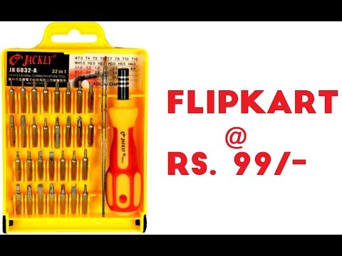 Unboxing Jackly Professional Magnetic Screwdriver set 32 in 1 bought from Flipkart at just Rs.99/-