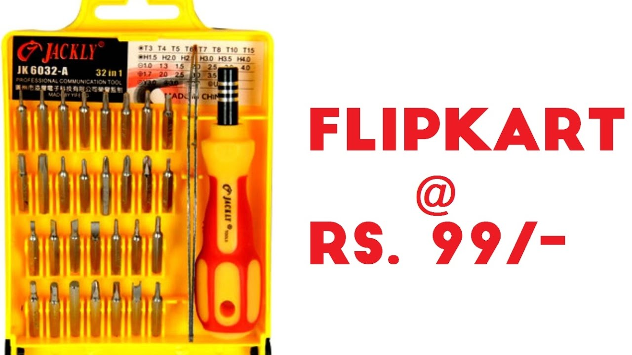 10ec5604c Unboxing Jackly Professional Magnetic Screwdriver set 32 in 1 bought from  Flipkart at just Rs.99 -