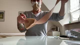 Mundschutz-Maske DIY aus Kaffeefilter 4 lagig + Kinesiotape. Maschera per il viso. Face mask. Covid.