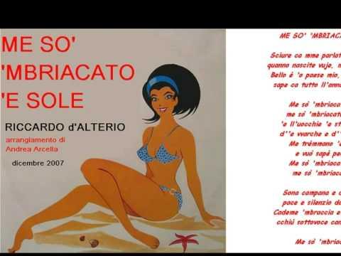 ME SO' 'MBRIACATO 'E SOLE - Riccardo d'Alterio - arrangiamento di Andrea Arcella