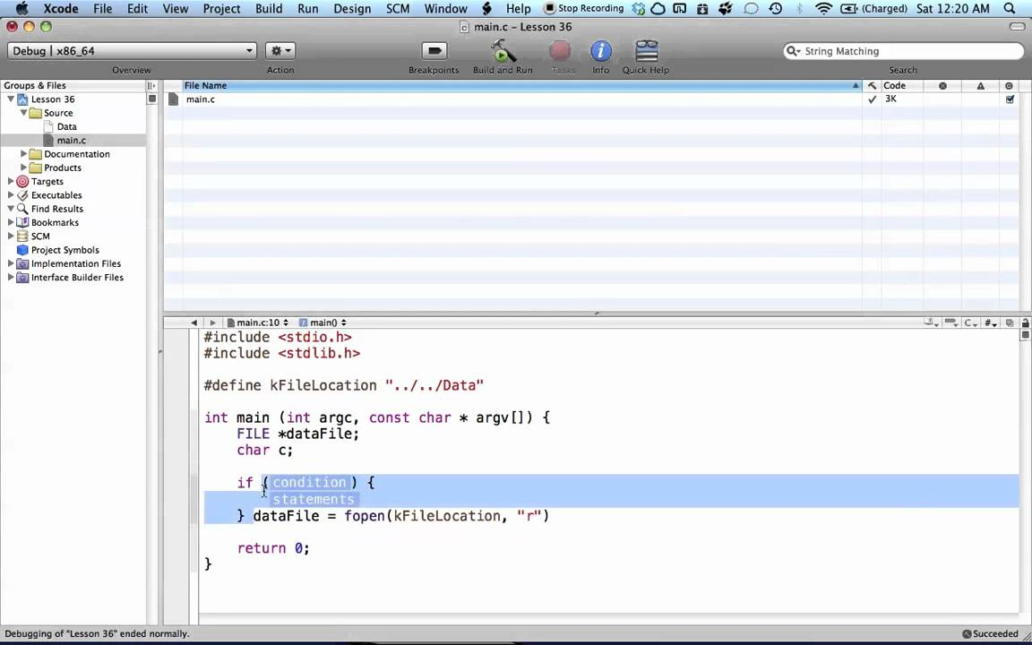 C Programming On The Mac L36 Reading Files Youtube