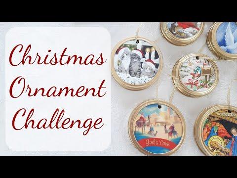 christmas-ornament-challenge-~-diy-upcycle-christmas-cards-&-mason-jar-lids-~-holiday-crafts