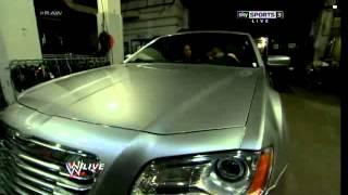 Kane attacks to Daniel Bryan & Brie Bella