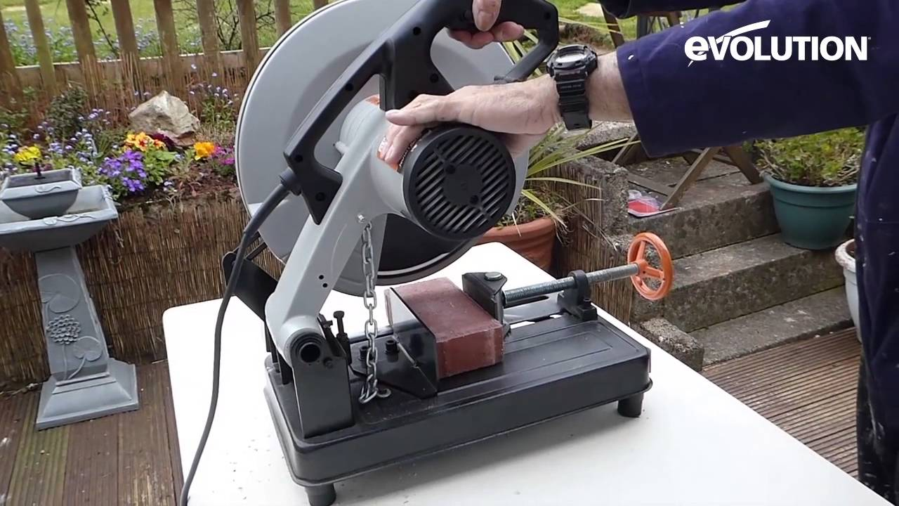 Evolution rage2 chop saw cut with a diamond blade youtube greentooth Images