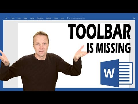 Toolbar is missing in Word